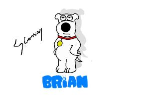 familyguy brian facing forward by supersonicartdrawer