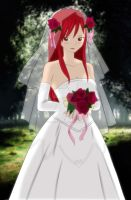 Erza - The Bride :Colored by BeastWithinMe