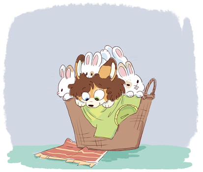 basket of buns by DoddleFur