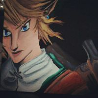 painting of link :D by EmeraldNightmare