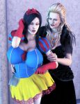 Snow White and the Queen by Redrobot3D