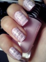 Newspaper Nails by LittleAndzia