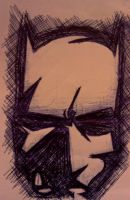 Batman in the shadows by Give1000Smiles