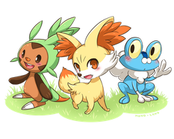 Pokemon XY Starters by MONO-Land