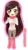 COMMISSION for chang05hana Chibi by ScarletteRoseDEzZean