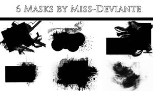 6 MASKS by Miss-deviantE