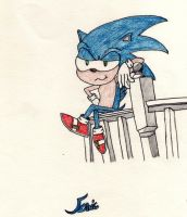 Sonic's Sexy Look  hehe by ShadGirl654