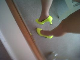 yellow heels by JemzLeigh