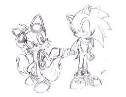 Sonic and Tails: Sonic Boom by S-concept