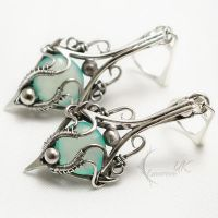 AVENTHILX silver and chalcedony by LUNARIEEN