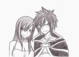 Erza and Jellal by Chocogirl3