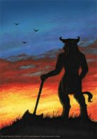 minotaur at sunset by Astrocat