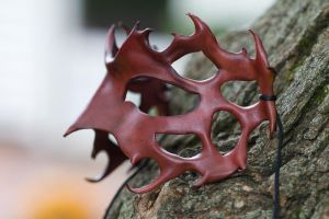Black Cherry Leather Mask by OsborneArts