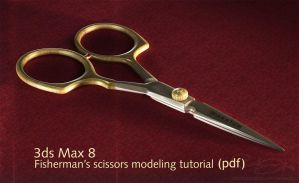 Fisherman's Scissors modeling by maxon