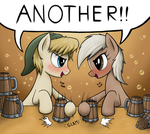 Drinking Contest by anearbyanimal