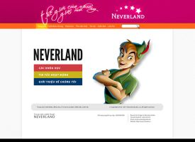 Neverland website by songiang