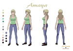 Amaya Reference Sheet by Sol-Tamida