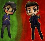 Bruce Banner and Tony Stark by awesomeyuan