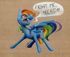 Fight Me, Nerd!! by getchanoodlewet