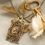 Romantic Victorian Steampunk Necklace by byrdldy