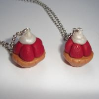 Strawberry Tart Necklaces by AndyGlamasaurus
