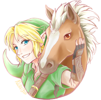 Link and Epona by RisuChuu