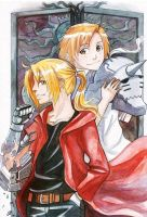Elric Brothers by Enijoi