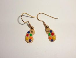 Paint Palette Earrings by ByToothAndClaw