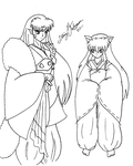 Sesshomaru and InuYasha by bluebellangel19smj