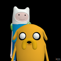 Adventure Time - Finn and Jake by Postmortacum