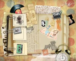 book page 4_Vintage scrapbook by flowery-cookie