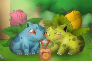 Ivysaur Tea Time by MuseWhimsy