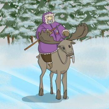 Moose Rider by mmheredith