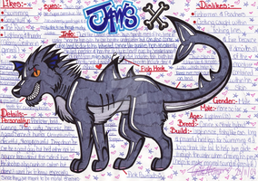 Jaws Refrence sheet 2010 by Fantasy-and-Fiction