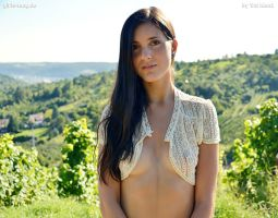 Alexa on the vineyards by Val-Mont