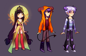 SALE COOL DEMONS AND ANGEL ADOPTABLES OPEN CLOSED by miotess-adopts