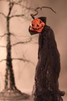 Cloaked Vampire Pumpkin by LabyrinthCreations