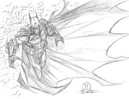 Batman commission pencils by JoeyVazquez