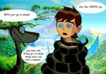 Ben 10 and Kaa by pasta79