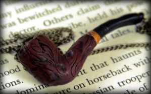 Old Sherlock Pipe Necklace by NeverlandJewelry
