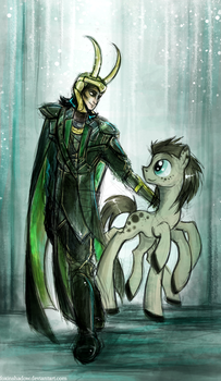 Loki and his pony by FoxInShadow