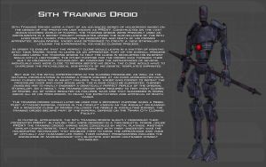 Sith Training Droid tech readout [New] by unusualsuspex