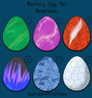 :ADOPTABLES: Mystery Egg Set by GuardianOfTheFlame