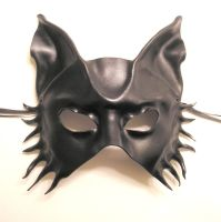 Black Leather Wolf Dog Mask by teonova