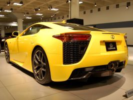 Rear view of Lexus LFA by Partywave