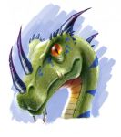 Raptor head colored by electronaut