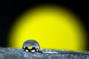 Sunrise droplet by pqphotography