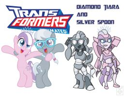 Transformares  Diamond Tiara and Silver Spoon by Inspectornills
