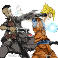 goku vs goodgrace by goodgrace1