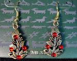 Vintage 'Artifacts' Red Berry Earrings by sevvysgirl